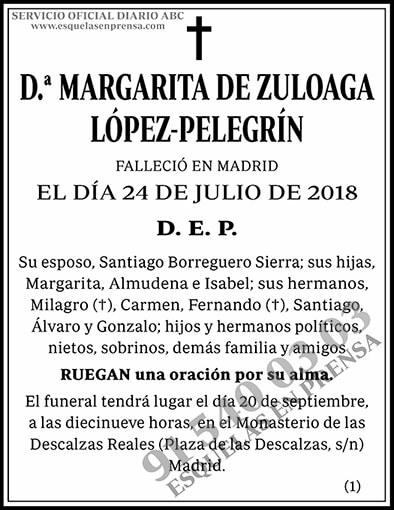 Margarita de Zuloaga López-Pelegrín